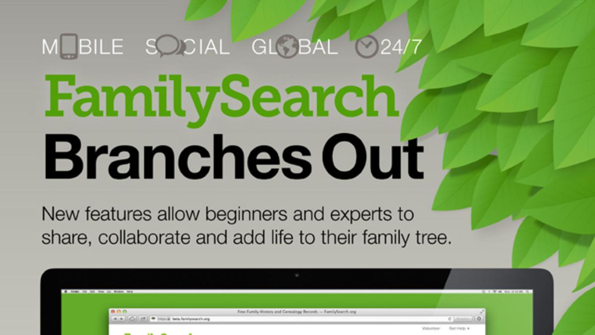 FamilySearch org New Website