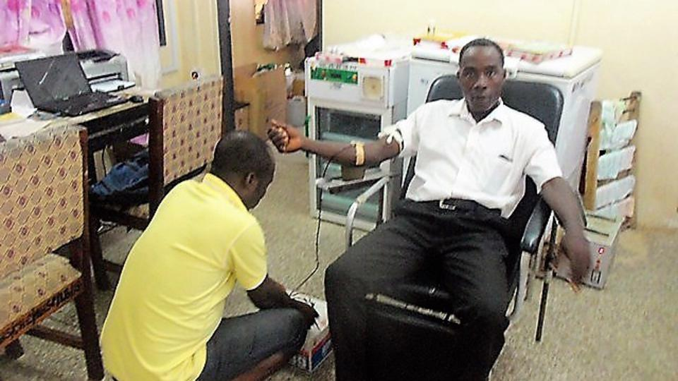 Man Donates Blood